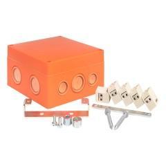 Коробка распаячная огнестойкая (126х126х74) 5 двойных кк/1