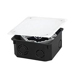 Коробка распаячная КМТ-010-022 для подштукатурного монтажа с клеммником и крышкой (107х107х50) EKF PROxima