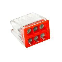 Строительно-монтажная клемма СМК 2273-246 (с пастой) 6 отверстий 0