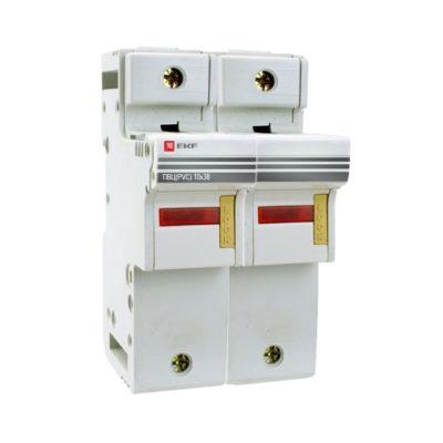 Предохранитель-разъединитель для ПВЦ 10x38 2P (с индикацией) EKF PROxima; pr-10-38-2