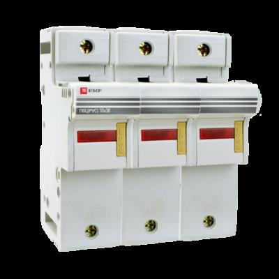Предохранитель-разъединитель для ПВЦ 10x38 3P (с индикацией) EKF PROxima; pr-10-38-3
