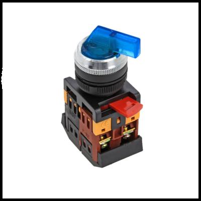 Переключатель ANLC-22 2P синий с подсветкой 380В NO+NC EKF PROxima; psw-anlc-2p-b-380