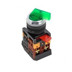 Переключатель ANLC-22 2P зеленый с подсветкой 220В NO+NC EKF PROxima