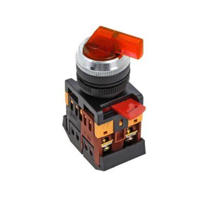 Переключатель ANLC-22 2P красный с подсветкой 24В DC NO+NC EKF PROxima; psw-anlc-2p-r-24
