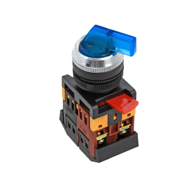 Переключатель ANLC-22 3P синий с подсветкой 380В NO+NC EKF PROxima; psw-anlc-3p-b-380