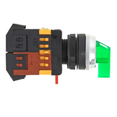 Переключатель ANLC-22 3P зеленый с подсветкой 24В DC NO+NC EKF PROxima; psw-anlc-3p-g-24