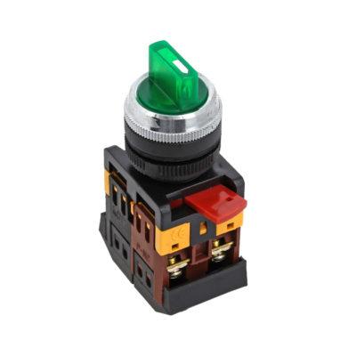 Переключатель ANC-22 2P зеленый с подсветкой 220В NO+NC EKF PROxima; psw-ans-2p-g-220