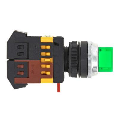 Переключатель ANC-22 2P зеленый с подсветкой 24В NO+NC EKF PROxima; psw-ans-2p-g-24
