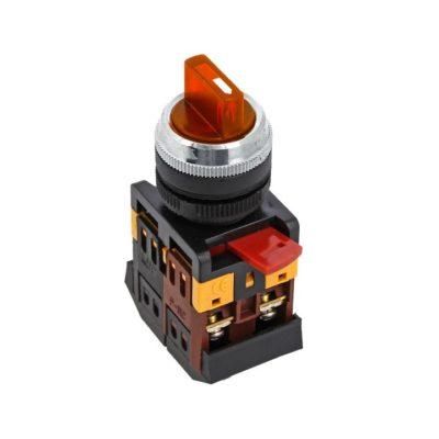Переключатель ANC-22 3P красный с подсветкой 220В NO+NC EKF PROxima; psw-ans-3p-r-220