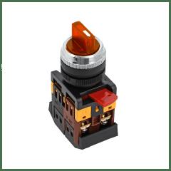 Переключатель ANC-22 3P красный с подсветкой 24В NO+NC EKF PROxima