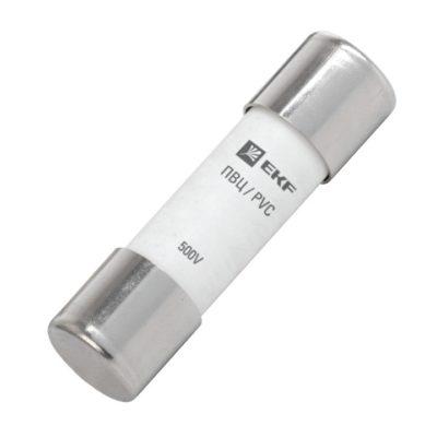 Плавкая вставка цилиндрическая ПВЦ (10х38)  10А EKF PROxima; pvc-10x38-10