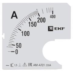 Шкала сменная для A721 200/5А-1