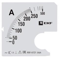 Шкала сменная для A721 250/5А-1