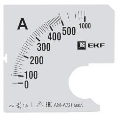 Шкала сменная для A721 500/5А-1