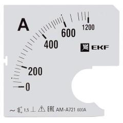 Шкала сменная для A721 600/5А-1