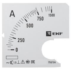 Шкала сменная для A721 750/5А-1