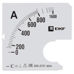 Шкала сменная для A721 800/5А-1