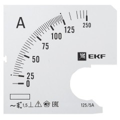 Шкала сменная для A961 125/5А-1
