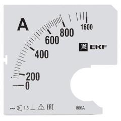 Шкала сменная для A961 800/5А-1
