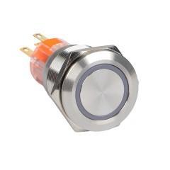 Кнопка S-Pro67 19 мм без фикс. с белой подсв. 230В EKF PROxima