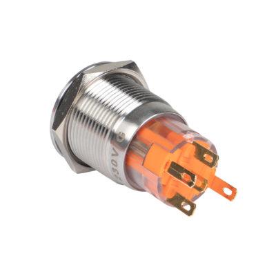Кнопка S-Pro67 19 мм с фикс. с оранжевой подсв. 230В EKF PROxima; s-pro67-231