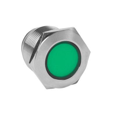 Лампа зеленая сигнальная S-Pro67 19 мм 24В EKF PROxima; s-pro67-322