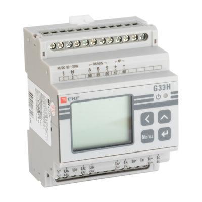Многофункциональный измерительный прибор G33H с жидкокристалическим дисплеем  на DIN-рейку; sm-g33h
