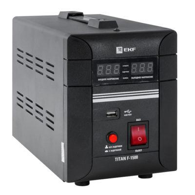 Стабилизатор напряжения напольный TITAN F-1500 EKF PROxima; stab-f-1500