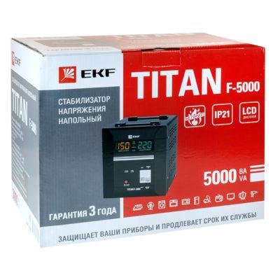 Стабилизатор напряжения напольный TITAN F-5000 EKF PROxima; stab-f-5000