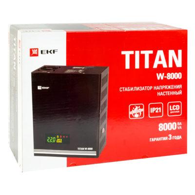 Стабилизатор напряжения настенный TITAN W-8000 EKF PROxima; stab-w-8000