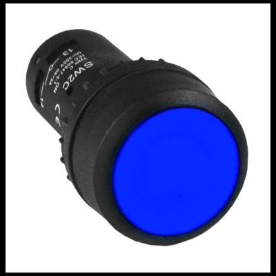 Кнопка SW2C-11 возвратная синяя NO+NC EKF PROxima; sw2c-11s-b