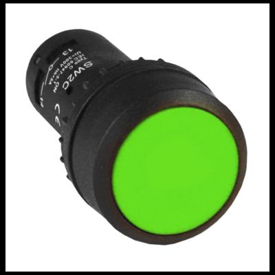 Кнопка SW2C-11 возвратная зеленая NO+NC EKF PROxima; sw2c-11s-g