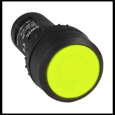 Кнопка SW2C-11 возвратная желтая NO+NC EKF PROxima; sw2c-11s-y