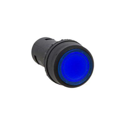Кнопка SW2C-10D с подсветкой синяя NO 24В EKF PROxima; sw2c-md-b-24