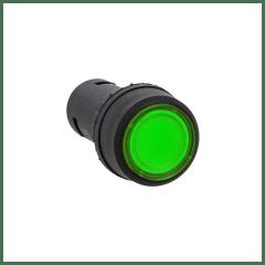 Кнопка SW2C-10D с подсветкой зеленая NO 24В EKF PROxima
