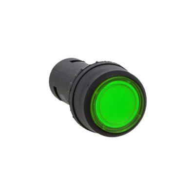 Кнопка SW2C-10D с подсветкой зеленая NO EKF PROxima; sw2c-md-g