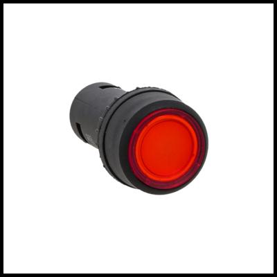 Кнопка SW2C-10D с подсветкой красная NO 24В EKF PROxima; sw2c-md-r-24