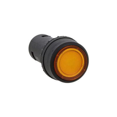 Кнопка SW2C-10D с подсветкой желтая NO 24В EKF PROxima; sw2c-md-y-24