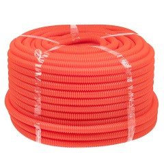 Труба гофр. ПНД Plast с зондом  d16мм (100м.) оранжевая EKF PROxima