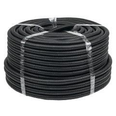 Труба гофр. ПНД Plast с зондом d20мм (100м.) черная EKF PROxima