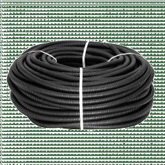 Труба гофр. ПНД Plast с зондом d25мм (25м.) черная EKF PROxima