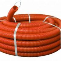 Труба гофр. ПНД Plast с зондом d25мм (75м.) оранжевая EKF PROxima