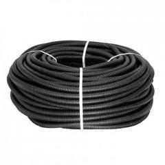 Труба гофр. ПНД Plast с зондом d32мм (50м.) черная EKF PROxima
