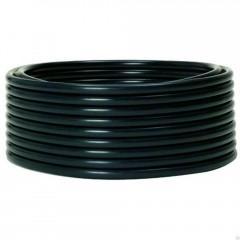 Труба гладкая жесткая ПНД черная d50мм (100м) EKF PROxima