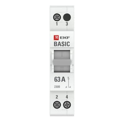 Трехпозиционный переключатель 1P 63А EKF Basic; tps-1-63