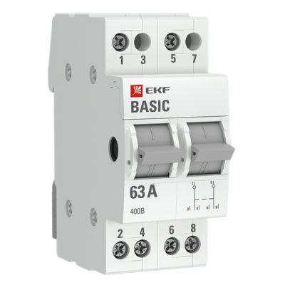 Трехпозиционный переключатель 2P 16А EKF Basic; tps-2-16