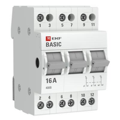 Трехпозиционный переключатель 3P 16А EKF Basic; tps-3-16