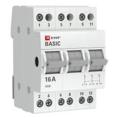 Трехпозиционный переключатель 3P 63А EKF Basic