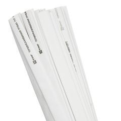 Термоусаживаемая трубка ТУТ нг 10/5 белая в отрезках по 1м EKF PROxima