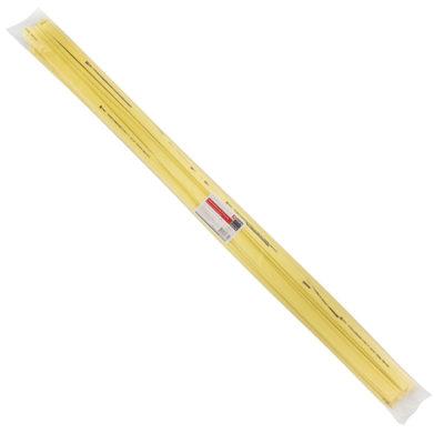 Термоусаживаемая трубка ТУТ нг 10/5 желтая в отрезках по 1м EKF PROxima; tut-10-y-1m
